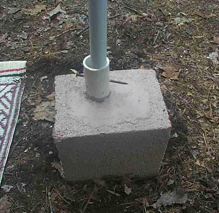 Concrete Pole Weights : Awning base